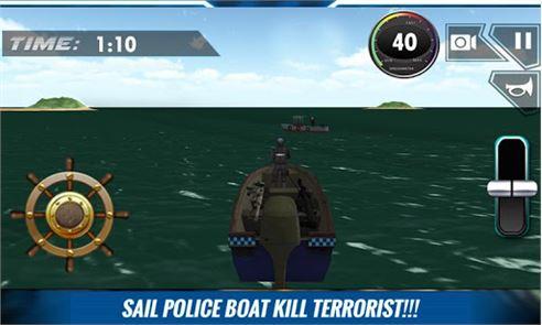 Navy Police Speed Boat Attack 2