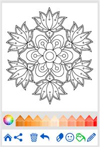 Flowers Mandala coloring book 2