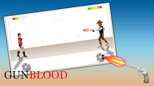 Western Cowboy Gun Blood 2 2