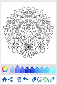 Coloring Book: Animal Mandala 4