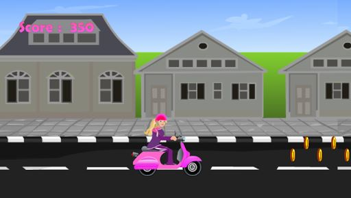 Miss Barbie Scooter Ride 3