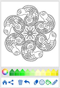 Coloring Book: Animal Mandala 2