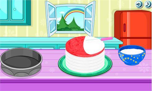 Cooking Rainbow Birthday Cake 6