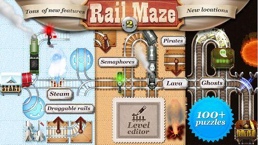 Rail Maze 2 : Train puzzler 1