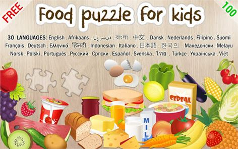 Food puzzle for kids 1