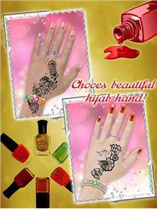 Hijab Hand Art – 3D Hand 6