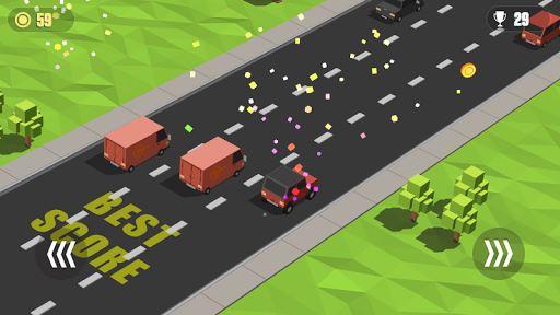 Blocky Cars: Traffic Rush 3