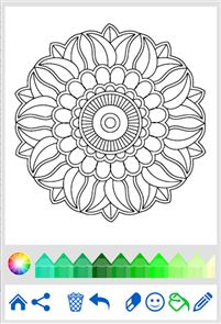 Flowers Mandala coloring book 3