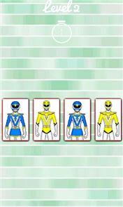 Hero Rangers Memory Game 3