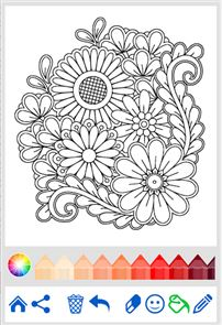 Flowers Mandala coloring book 4