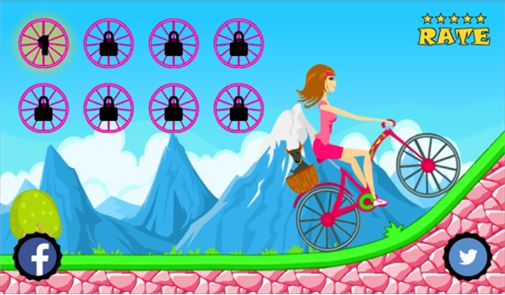 Biker Girl Hill Climb Cycling 2