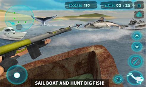 Shark Attack Spear Fishing 3D 3