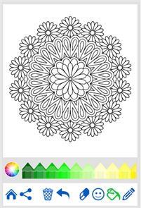 Flowers Mandala coloring book 6