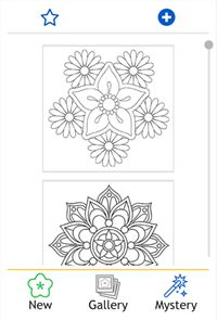 Flowers Mandala coloring book 1