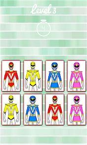 Hero Rangers Memory Game 2