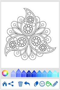 Flowers Mandala coloring book 5