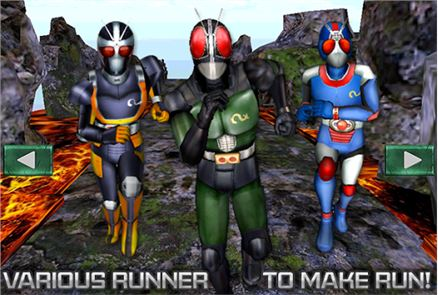 3D Mask Run Rider Man Rush 4
