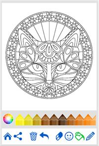 Coloring Book: Animal Mandala 5