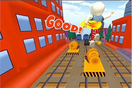 3D Subway Kids Rail Dash Run 4