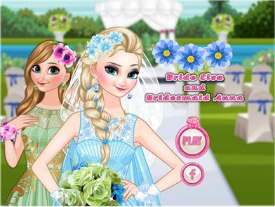 Elsa Bride Dress up 1